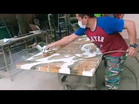 spray 2k epoxy table top putih