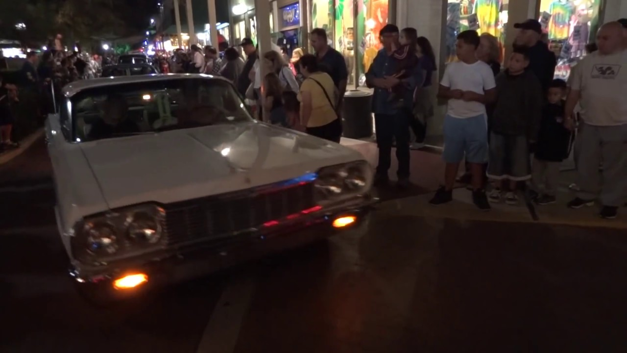 cool car cruise and halloween party at old town kissimmee, florida