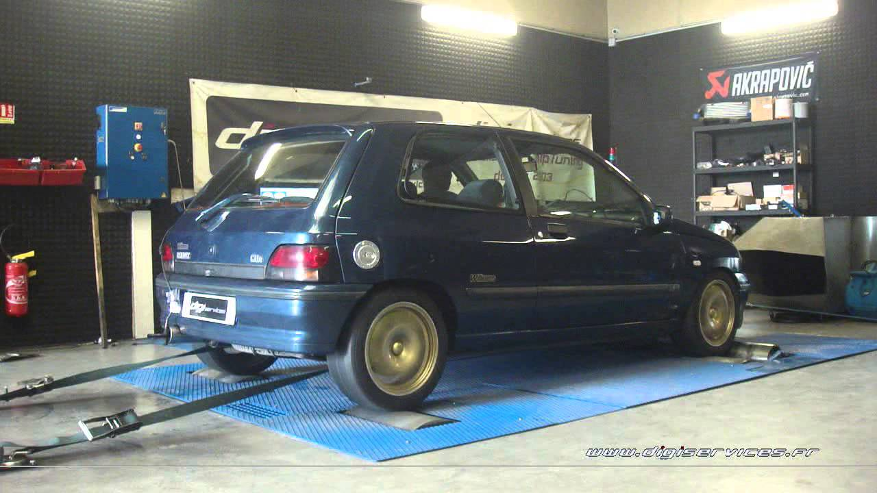 renault clio williams 150cv reprogrammation moteur 178cv digiservices paris 77 dyno youtube. Black Bedroom Furniture Sets. Home Design Ideas