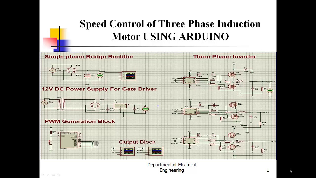 Speed Control of Three Phase Induction Motor USING ARDUINO