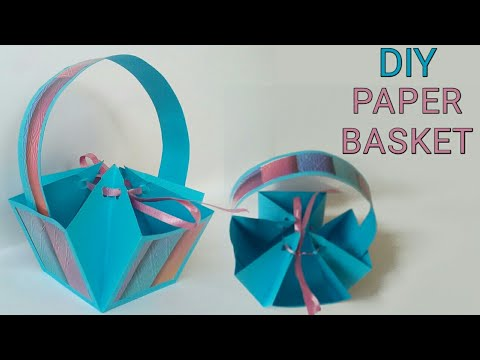 Diy Paper crafts ideas easy | Diy Paper Basket | How to make paper basket | Diy Paper Gift Basket