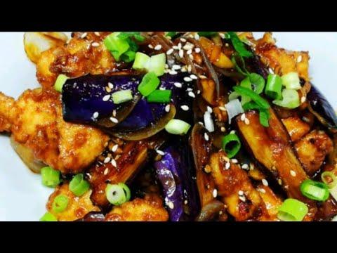 CHICKEN AND EGGPLANT TERIYAKI|The Restaurants Food