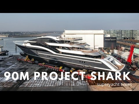 90m Oceanco Superyacht Project Shark Y717 Revealed