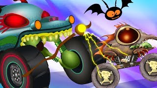 Haunted House Monster Truck : The Magic Wand | Car Cartoon Stories For Kids