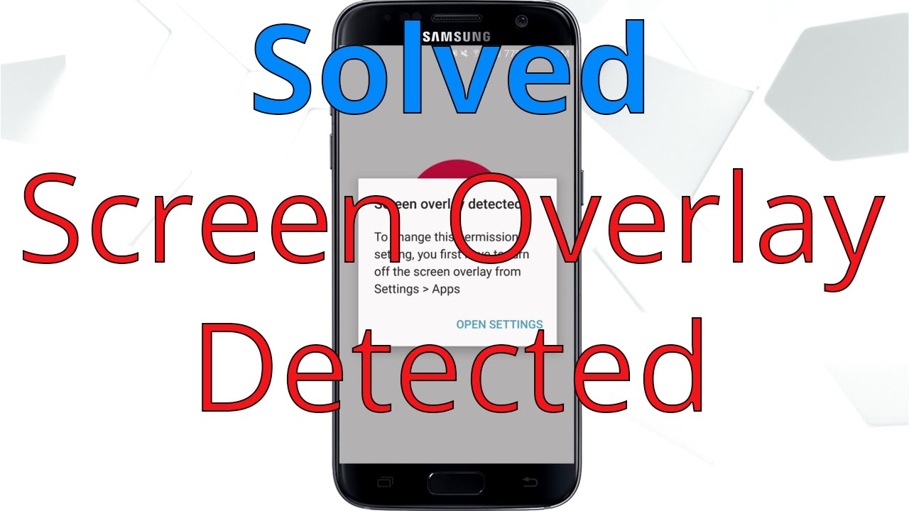 How to Fix Screen Overlay Detected | Android 6 0 All Phones