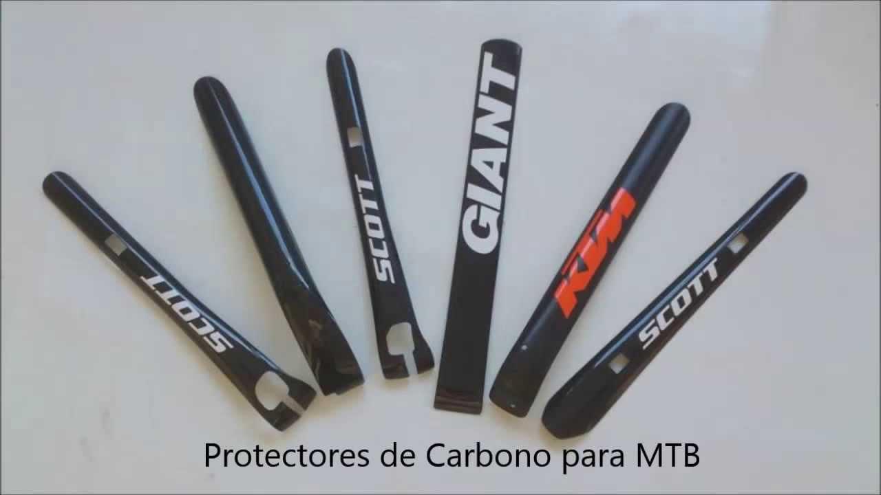 Protector de Carbono Real para Bicicletas MTB - YouTube