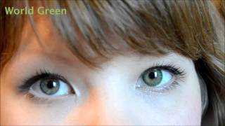 What circle lenses look like on light / Western eyes!!