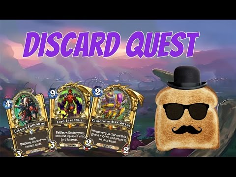 Disguised Toast in ladder with Quest discard warlock (un'Goro)