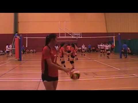 2017 A Div National Semi Final Girls DHS vs AJC 3-0 1st n 2nd set