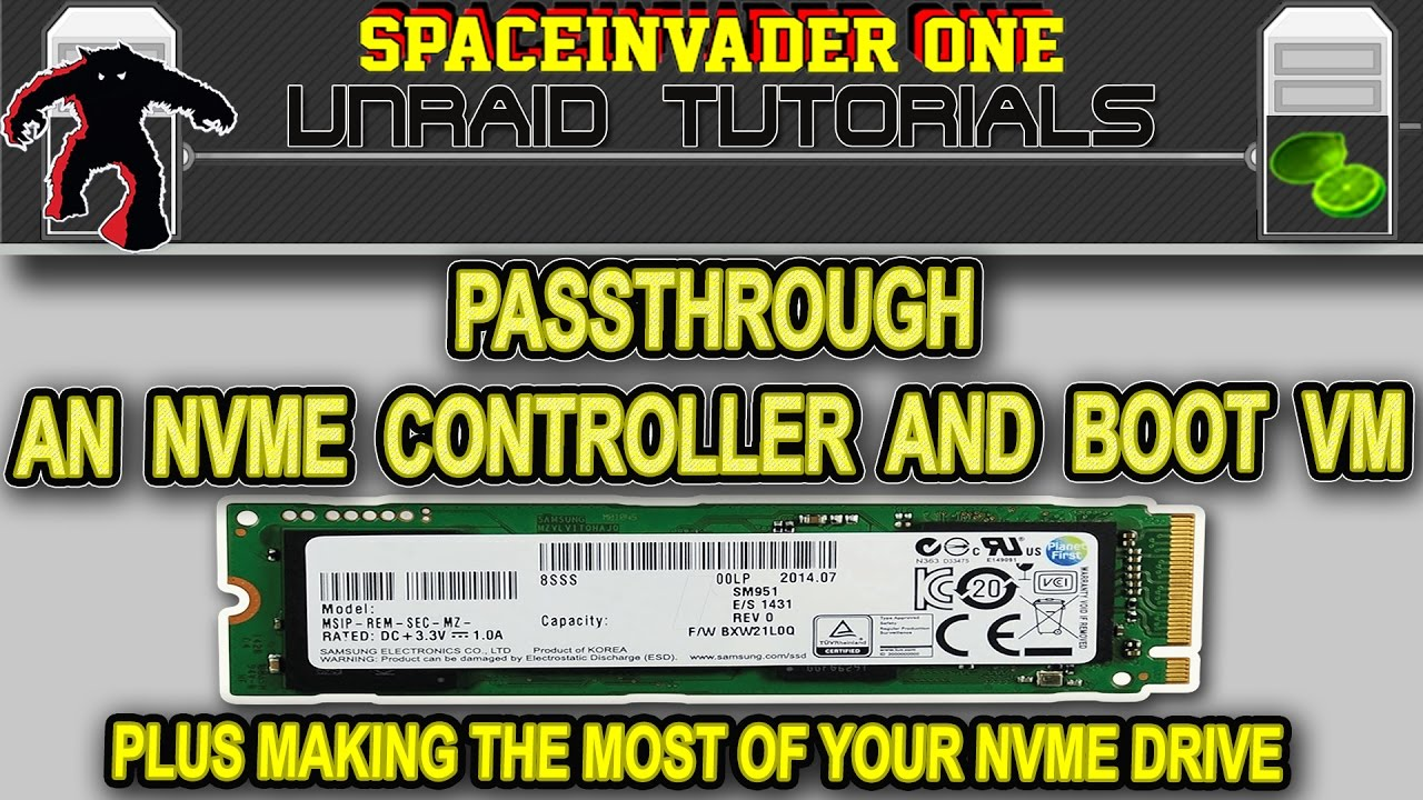 How to passthrough and boot from an NVMe controller for bare metal  performance in KVM/unRAID