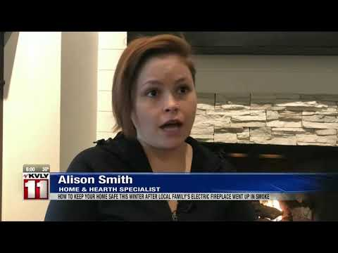 News  Fargo family warns of fireplace fire danger