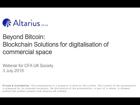 Watch it: our blockchain speaker's note with CFA UK