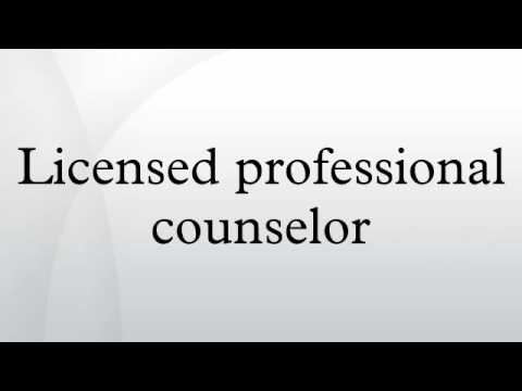 Licensed professional counselor - YouTube
