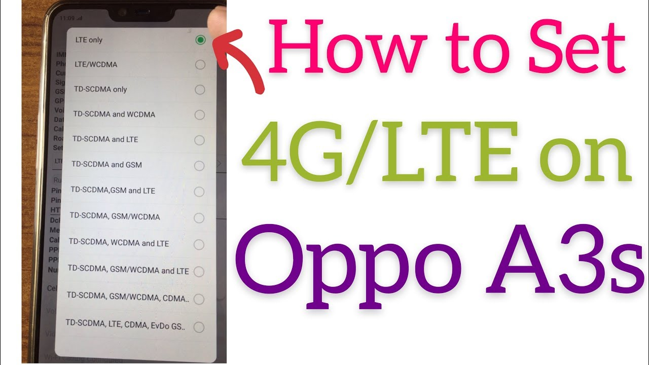 Oppo A3 APN settings & network compatibility in United