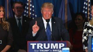 Donald Trump thanks his GOP rivals in New Hampshire