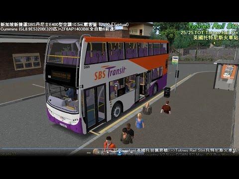 Omsi 2 tour (507) UK  Westcountry 35 Paignton - Totnes Railway Station @ SBST Alexander Dennis E400