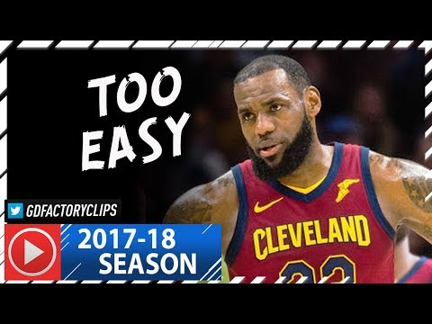LeBron James Full Highlights vs Trail Blazers (2018.01.02) - 24 Pts, 8 Ast