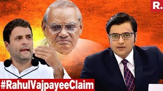 Visiting Vajpayee, A Race For Rahul Gandhi?   The Debate With Arnab Goswami