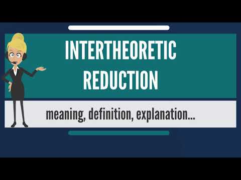 What is INTERTHEORETIC REDUCTION? What does INTERTHEORETIC REDUCTION mean?