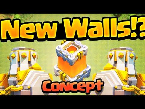 Clash of Clans ♦ NEW WALLS ♦ Concept!
