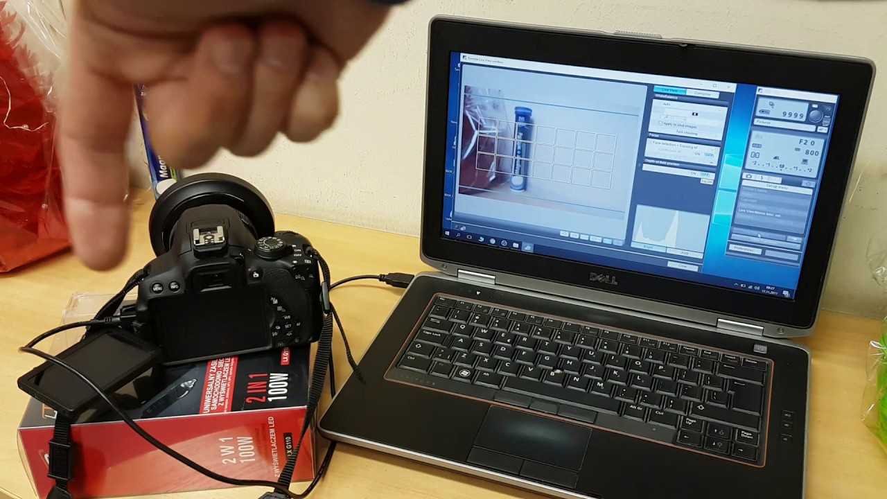 Canon EOS Utility | Jak podłączyć aparat do komputera za pomocą kabla USB i nim sterować zdalnie ?