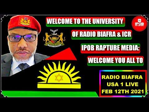 IRM: Welcome To The  Radio Biafra *USA 1 LIVE* Broadcast Feb 12Th 2021 | By  Chukwuemeka Alozie