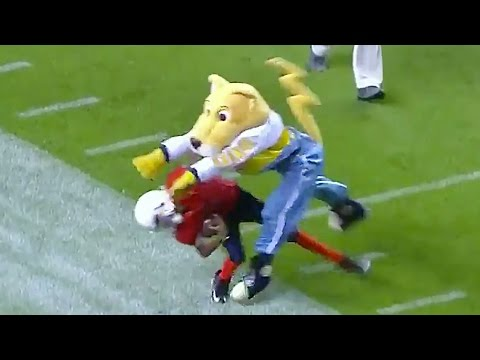 Nuggets Mascot Decks Kid, Then Taunts Him