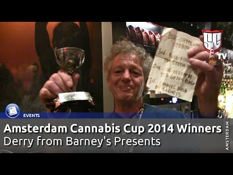 Derry from Barney's Presents the Amsterdam Cannabis Cup 2014 Winners - Smokers Guide TV