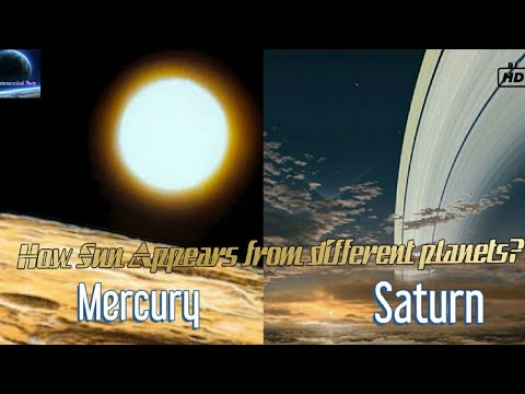 How Sun Appears From Other Planets? | Astronomical Facts