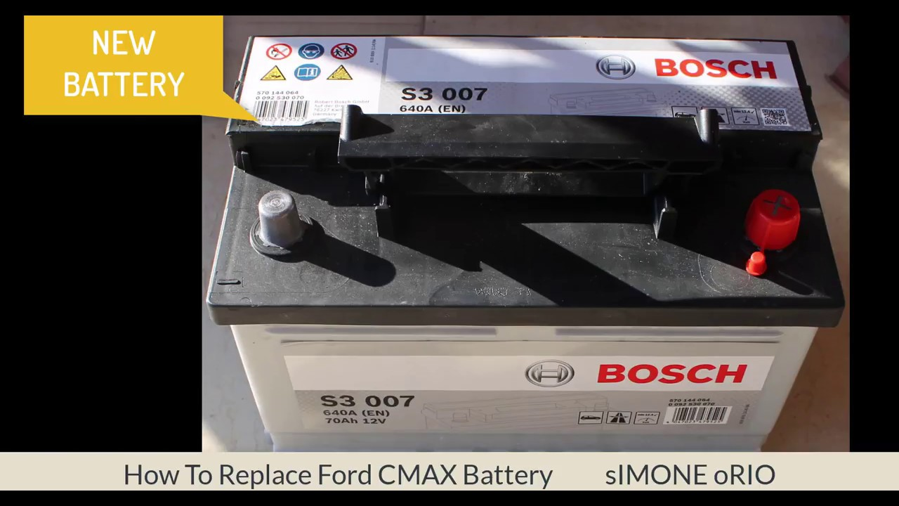 how to replace ford cmax battery youtube. Black Bedroom Furniture Sets. Home Design Ideas