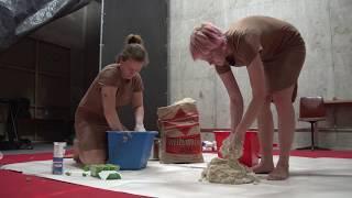 Kunstverein Familie Montez | Knölkollektivet preparing Cumbersome Dough | 2018