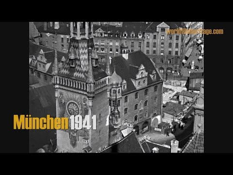 München 1941 - Munich during WWII - City roundtrip - traffic - famous sights