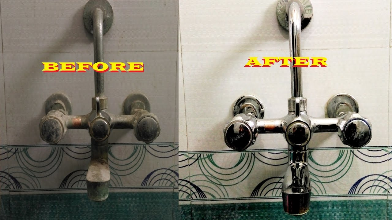 bathroom cleaning tips how to clean a bathroom tap and shower tap
