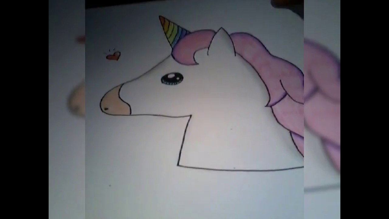 Come Disegnare Un Unicorno Kawaii Emoji My Unicorns Kawaii Youtube