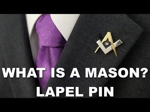 What Is A Mason? Lapel Pin