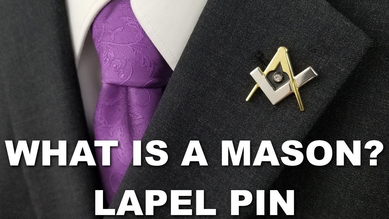 Masonic Lapel Pin with Clear Stone MAS-10