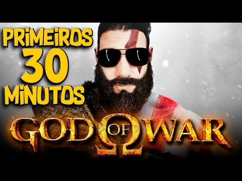 GOD OF WAR PRIMEIROS 30 MINUTOS GAMEPLAY PLAYSTATION 4 DUBLADO EM PORTUGUES