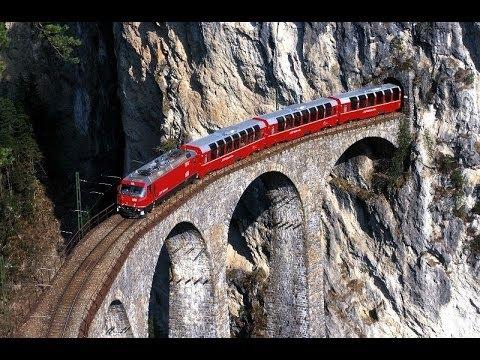 Tutti i panorami del Trenino rosso del Bernina - FILM COMPLETO Tirano-Sankt Moritz! FULL HD