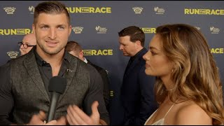 """Tim Tebow & Fiance Demi-Leigh Hit Red Carpet with Brother Robby for New Film """"Run the Race"""""""