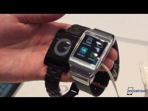 Galaxy Gear vs Pebble Smart Watch (IFA 2013 Hands-On) | Pocketnow