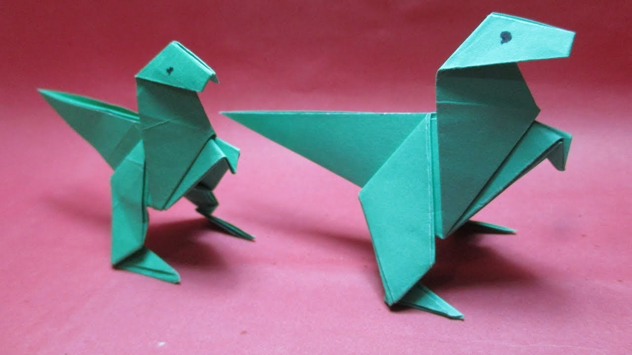How To Make Origami Animals Dinosaur Paper Making Instruction Step By