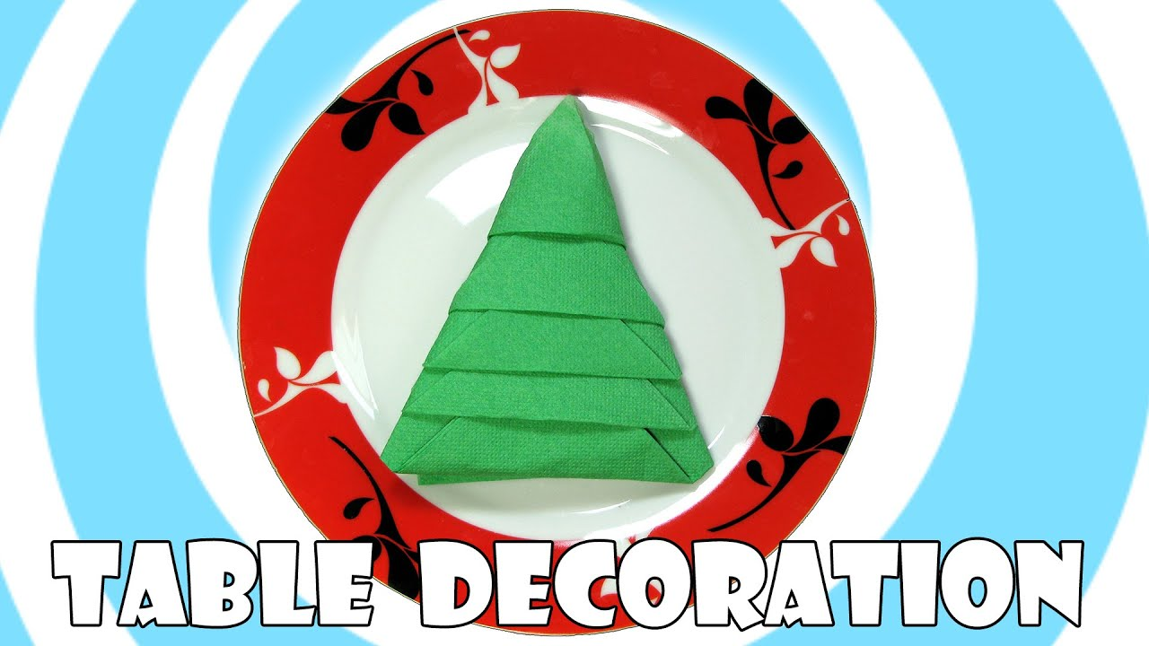 diy napkins christmas tree table decoration youtube