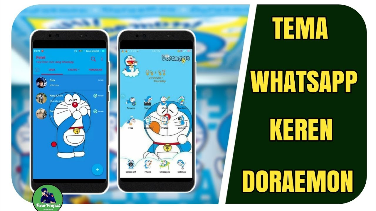 The Cool Doraemon Whatsapp Theme On Android Doraemon Theme Youtube