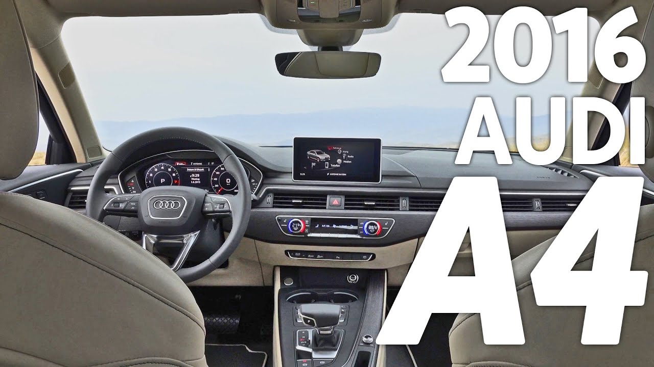 2016 Audi A4 Sedan Interior Youtube