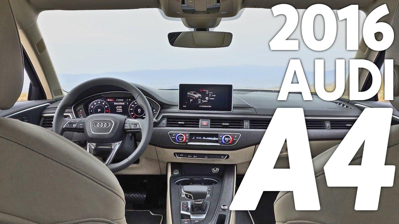 ▻ 2016 Audi A4 Sedan INTERIOR   YouTube