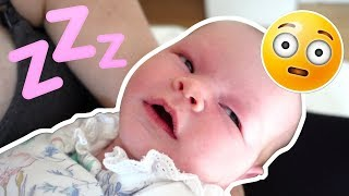 BABY SLEEPS WITH HER EYES OPEN!!
