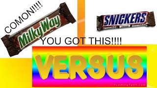 Milky Way VS Snickers | Candy Wars