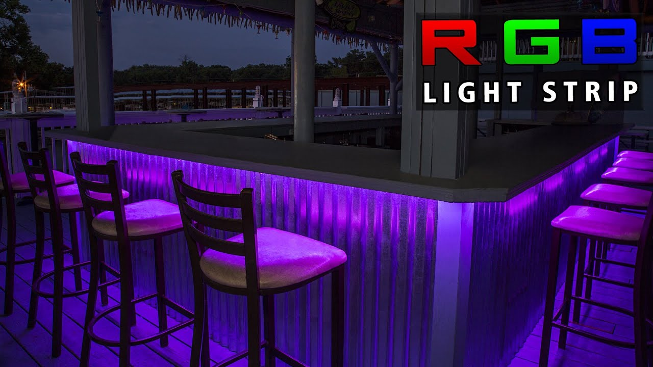 Led Light Strip On Deck Youtube