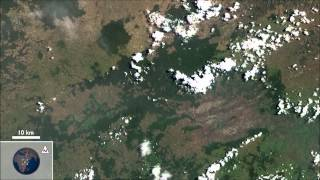 Landsat Satellite Tour of the Earth to Music