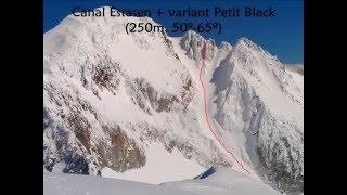 Aneto en esquís por el corredor Petit Black